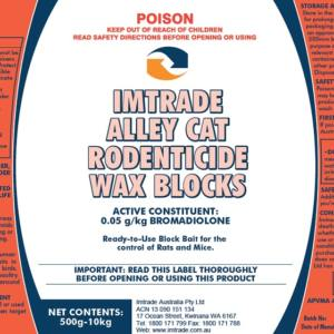 Imt Alley Cat Rodenticide Wax Blocks