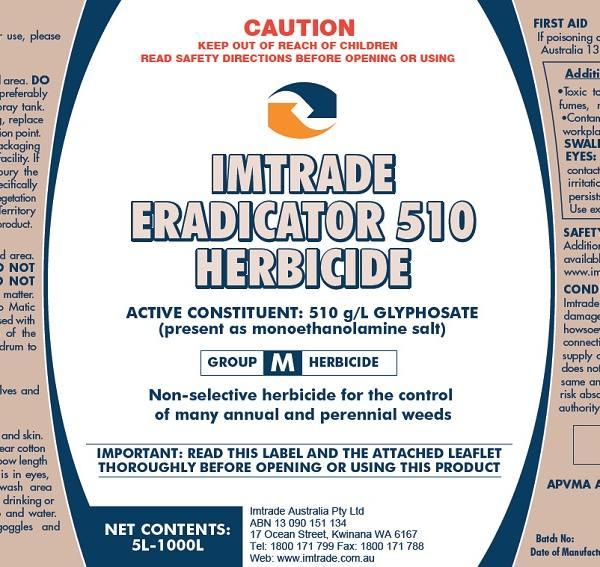 Eradicator 510 Herbicide label