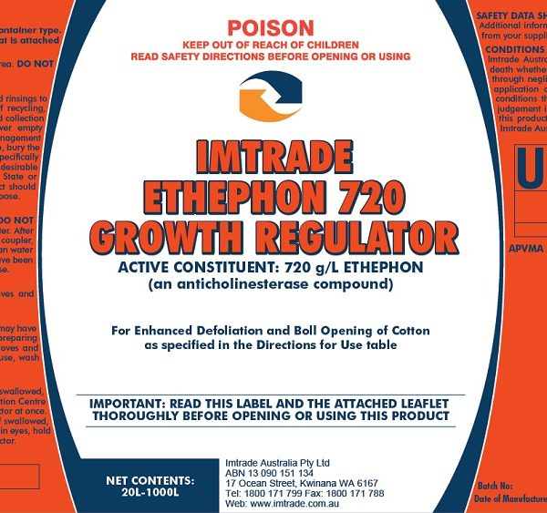 Ethephon 720 Growth Regulator label