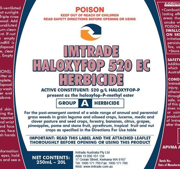 Haloxyfop 520 EC Herbicide label
