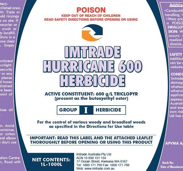Imt Hurricane 600 Herbicide