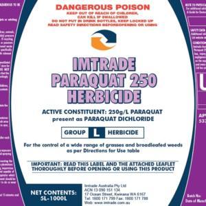 Imt Paraquat 250 Herbicide GHS
