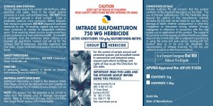 SULFOMETURON 750 WG label