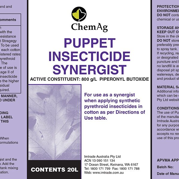 Puppet Insecticide Synergist label