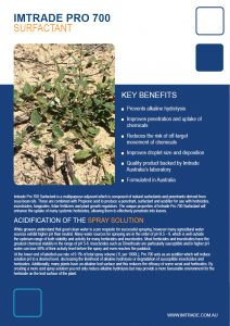 Fungicide Surfactant Imtrade