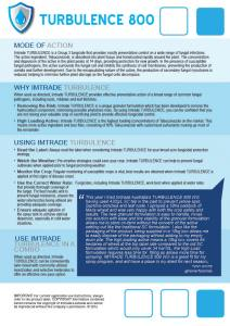 Turbulence 800 Technical Bulletin2